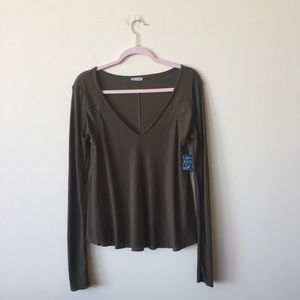NWT Free People Army Green Thermal